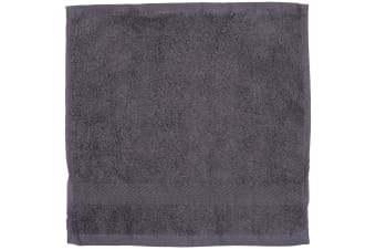 Towel City Luxury Range 550 GSM - Face Cloth / Towel (30 X 30 CM) (Steel Grey)
