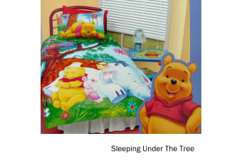 Winnie The Pooh Quilt Cover Set Sleeping Under The Tree  Double