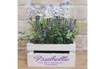 Lavender Flower Box with Personlised Inscription