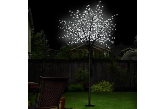 Jingle Jollys 2.5M LED Christmas Blossom Tree Twig 600 Optic Fiber Cold White