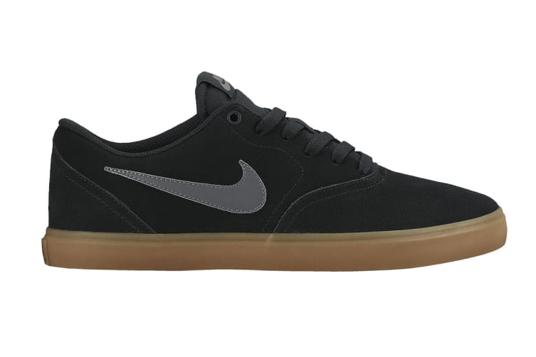 Nike SB Check Solarsoft Men's Skateboarding Shoe (Black/Anthracite/Brown, Size 7 US)