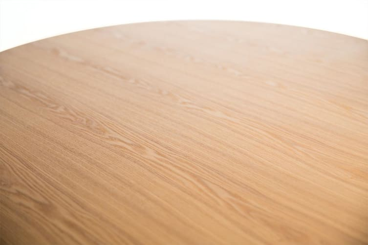 Doreen Collection   Wood Round Dining Table   Natural   120cm