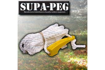 SUPA PEG SINGLE RUNNER GUY ROPE TENT MARQUE ANNEX POLE HEAVY DUTY CAMP CAMPING