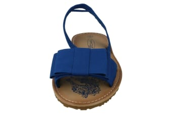 Spot On Womens/Ladies Seahorse Flat Bow Sling Sandals (Navy) (8 UK)