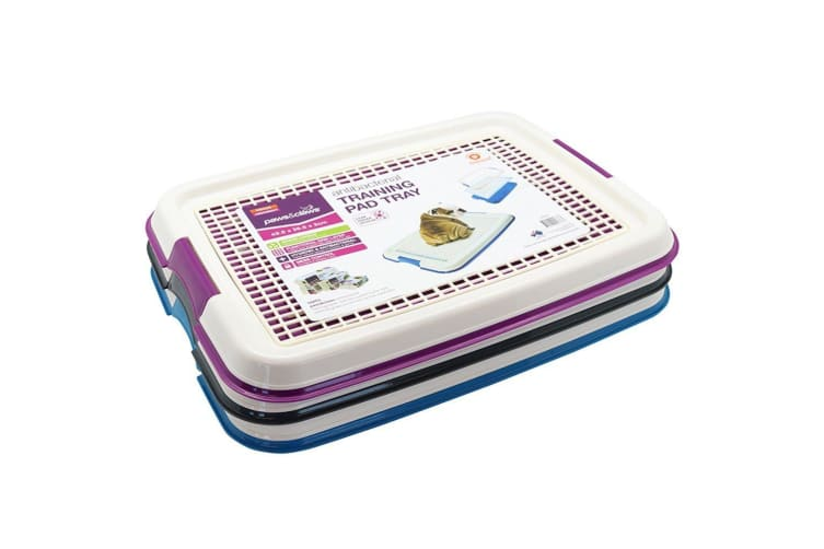 Blue Indoor Pet Puppy Dog Potty Training Portable Toilet Large Loo Pad Tray Mat Small