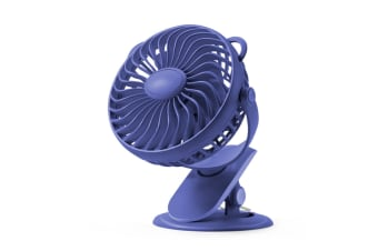 Clip Fan Usb Desktop Office Fan Mini Dormitory Fan - Dark Blue Blue 18X11X19Cm