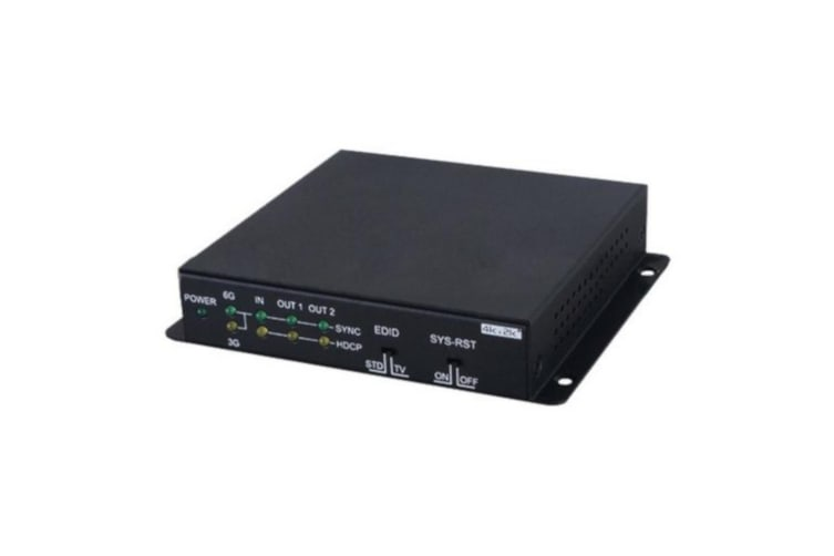 Cypress 4K UHD HDR 1—2 HDMI Splitter with Automatic Downscaling