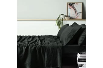 100% Linen Graphite Sheet Set KING