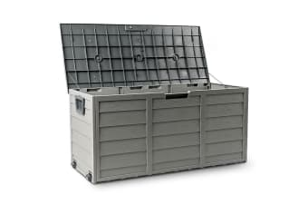 Grey 290L Lockable Outdoor Storage Box