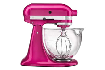 KitchenAid KSM170 Stand Mixer with Premium Finish and 4.7L Glass Bowl - Raspberry Ice (5KSM170ARI)