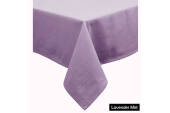 Cotton Blend Table Cloth Lavender Mist by Hoydu