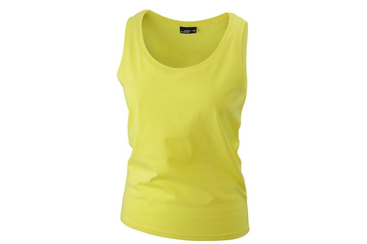 James and Nicholson Womens/Ladies Cotton Tank Top (Yellow) (XXL)