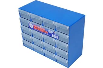 Fischer Plastic 20 Drawer Storage Cabinet