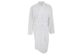 Comfy Unisex Co Bath Robe / Loungewear (White)