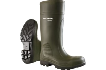 Dunlop D460933 Purofort PRO Non-Safety / Mens Boots / Plain Rubber Wellingtons (Green)