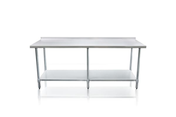 Stainless Steel Kitchen Work Bench & Food Prep Table (213cm x 61cm)