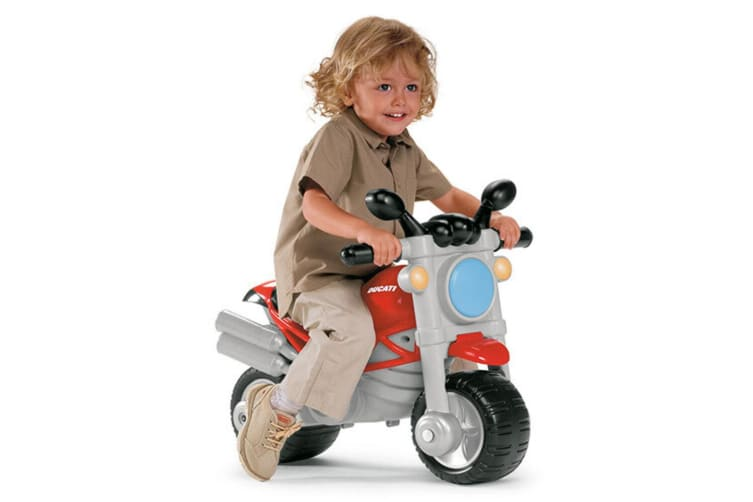 Chicco Kids Ducati Monster Bike Sit N Ride Toddler Toy w/Side Wheel Support 18m+