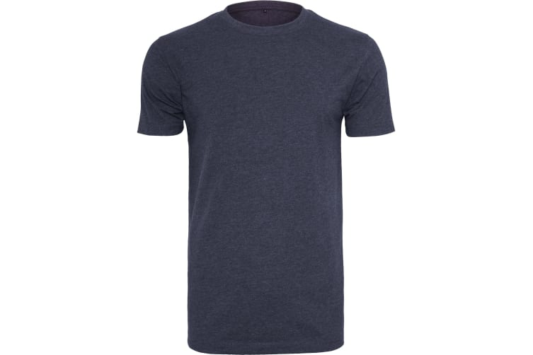 Build Your Brand Mens T-Shirt Round Neck (Navy) (2XL)