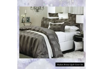 Hudson Bronze Quilt Cover Set by Private Collection