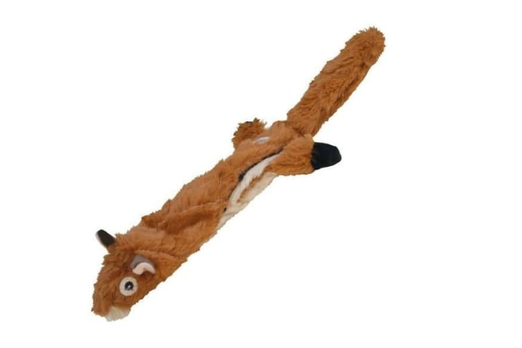 Gloria DogMonsters Squirrel Plush Squeaky Dog Toy (Brown) (58cm)