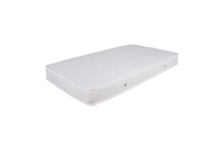 Childcare Baby Toddler Bristol Cot White + Inner Spring Mattress