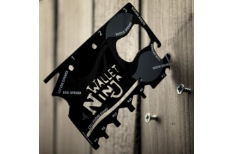 Wallet Ninja 18-in-1 Credit-Card Sized Multi Tool