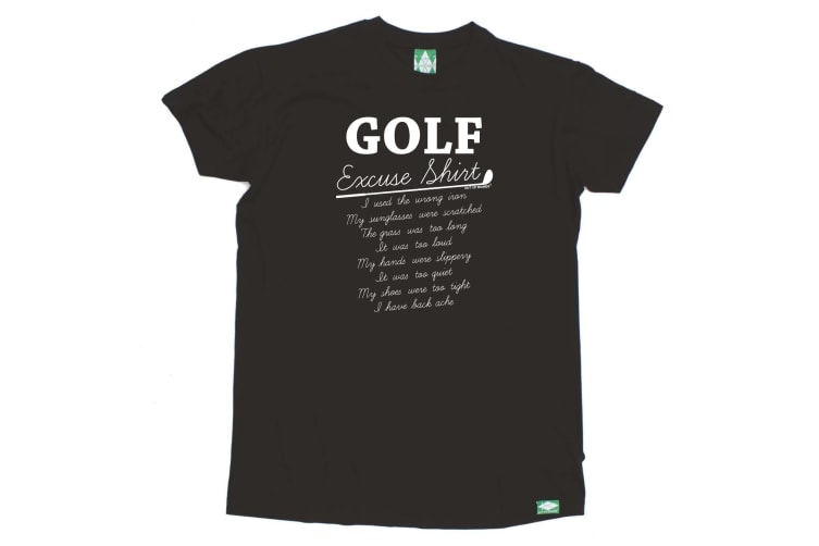 Out Of Bounds Golf Tee - Golf Excuse Shirt - (Small Black Mens T Shirt)
