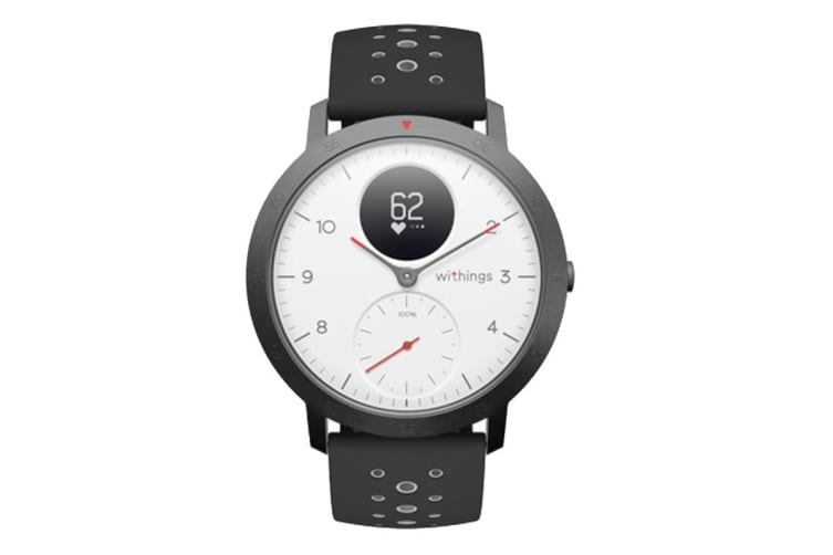 Withings Steel HR Sport 40mm (White, Black Band)