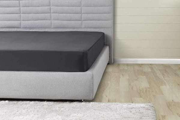 Ovela 1000TC Cotton Rich Luxury Fitted Sheet (Queen, Charcoal)