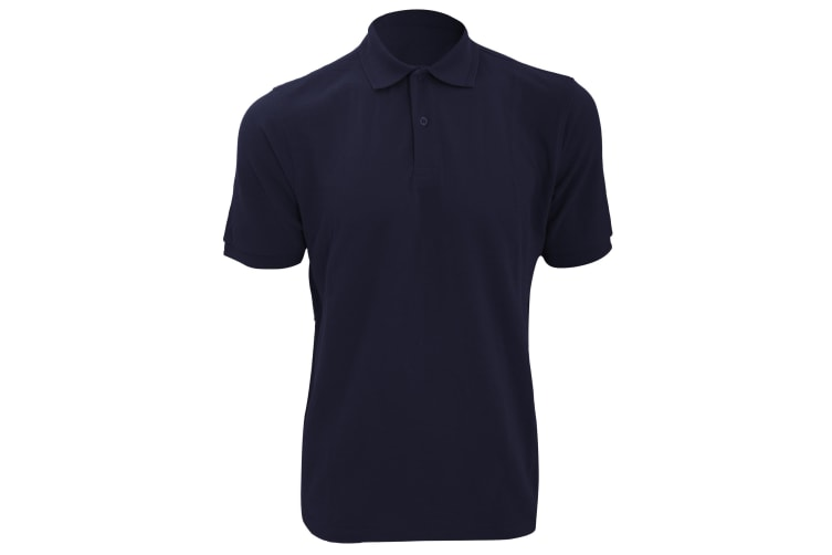Russell Mens Ripple Collar & Cuff Short Sleeve Polo Shirt (French Navy) (L)