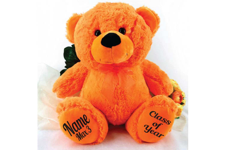 Graduation Personalised Teddy Bear 40cm Plush Orange