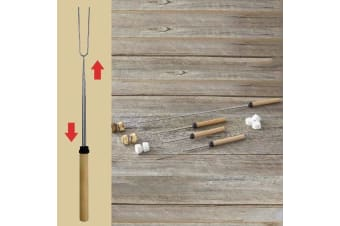 Extendable BBQ Marshmallow Skewer Forks For Camping - Set of 4