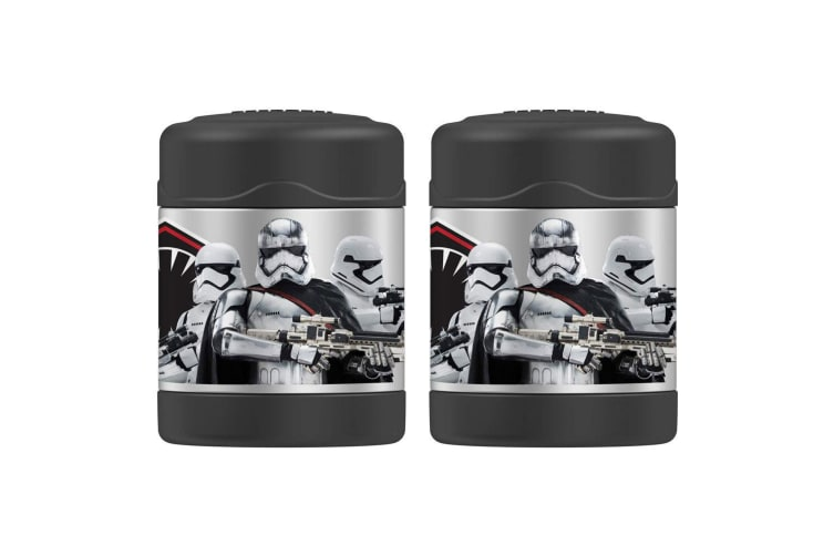 2PK Thermos Funtainer 290ml Stainless Steel Food Jar Star Wars Storm Trooper BLK