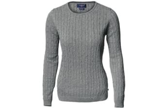 Nimbus Womens/Ladies Winston Cable Knit Cotton Jumper (Dark Grey Melange)
