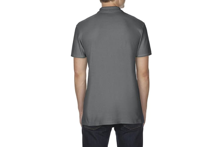 Gildan Softstyle Mens Short Sleeve Double Pique Polo Shirt (Charcoal) (M)