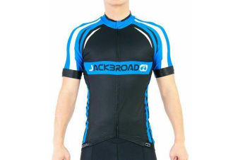 Jackbroad Premium Quality Cycling Jersey Blue XL