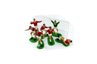 Creative Party Cake Topper Footballer Set (Red) (One Size)