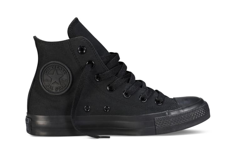 Converse Chuck Taylor All Star Hi (Black Mono, US Mens 8.5 US Womens 10.5)