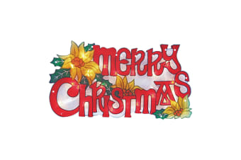 Christmas Workshop Metallic Merry Christmas Silhouette Decoration (Multicoloured) (One Size)