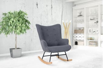 Shangri-La Milla Rocking Lounge Chair (Charcoal Grey)
