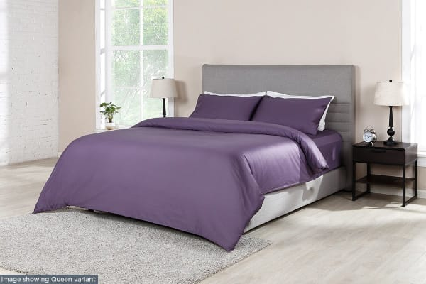 Ovela 1000TC 100% Egyptian Cotton Quilt Cover Set (Single, Lilac)