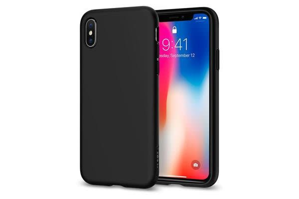 Spigen iPhone X Liquid Crystal Case Matte Black