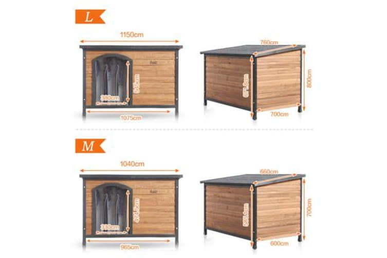 Extra Large Timber Wooden Dog House M-Size