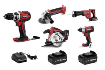 Certa PowerPlus 18V 4.0Ah 5 Piece Set (Brushless Drill)