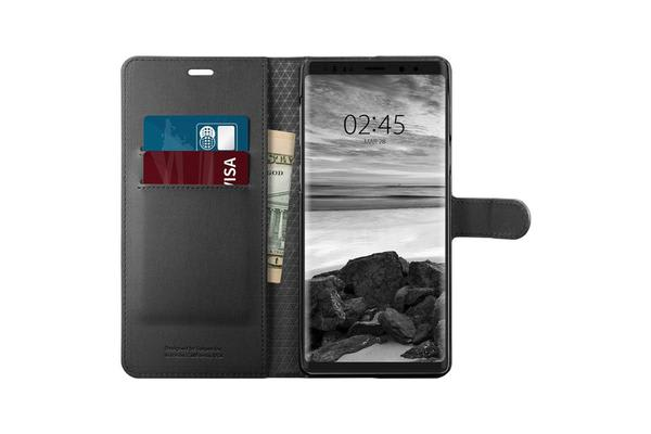 Spigen Galaxy Note 9 Premium Wallet Case Black