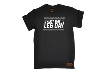 Ride Like The Wind Cycling Tee - Every Day Is Leg - (Large Black Mens T Shirt)