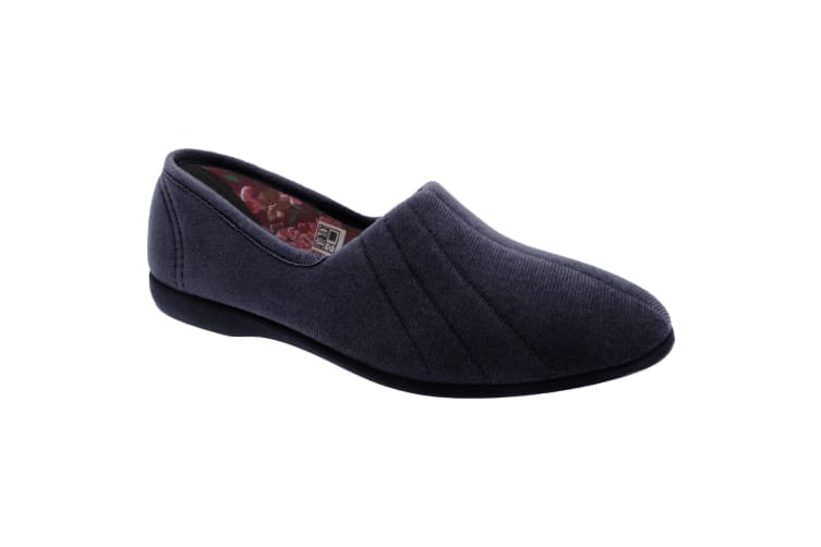 GBS Audrey Ladies Slipper / Womens Slippers (Navy) (4 UK)