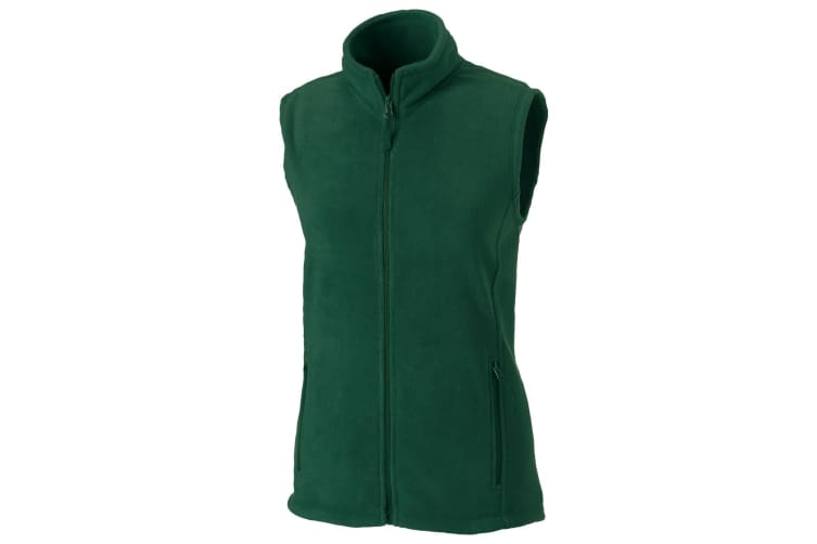 Russell Europe Womens/Ladies Outdoor Full-Zip Anti-Pill Fleece Gilet Jacket (Bottle Green) (S)