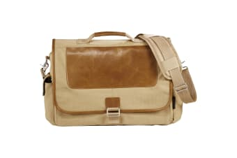 Field & Co. Cambridge 17in Laptop Messenger Bag (Beige)