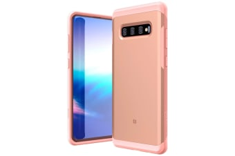ZUSLAB Galaxy S10 Plus Hybrid Shield Case Shockproof with Built in Soft TPU Rubber Cover for Samsung - Rose Gold